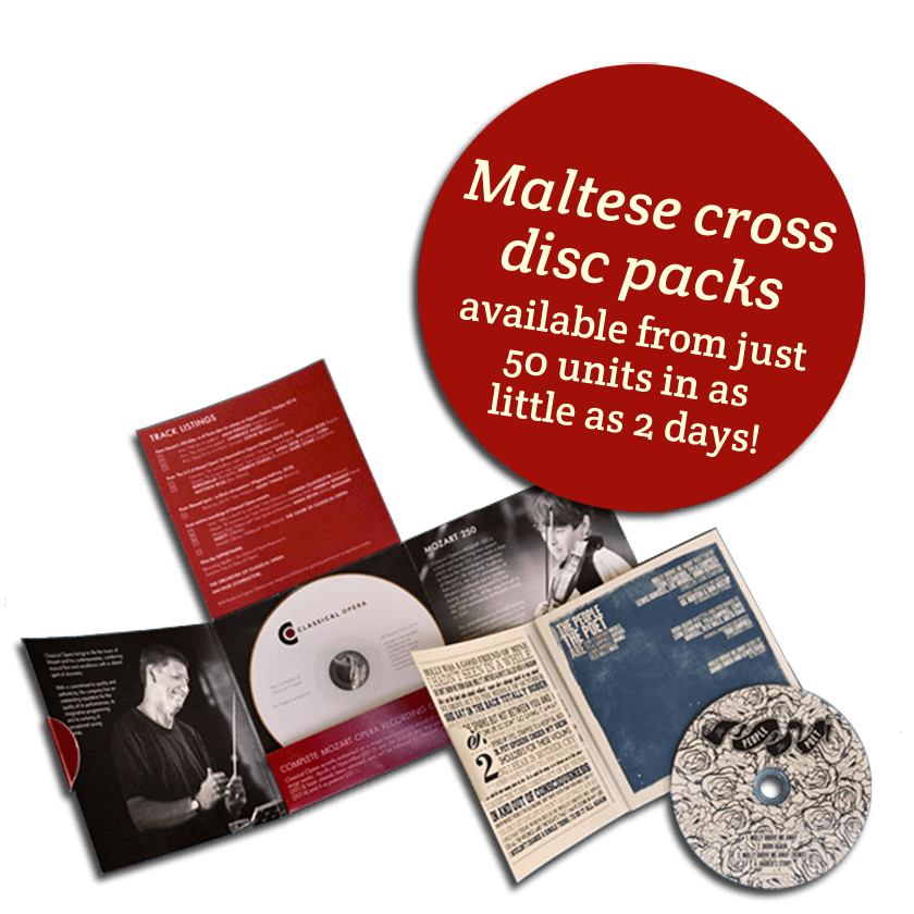 Maltese Cross CD Packaging - mobile