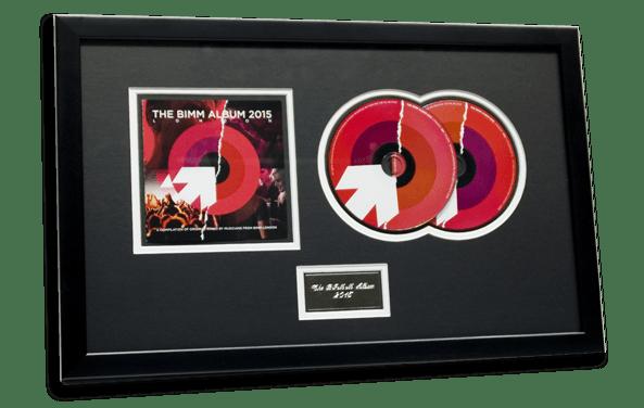 CD audio Presentation Frame for CD duplication Bolt-on pack