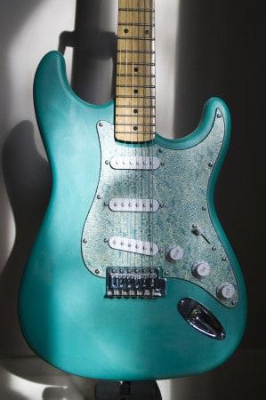 Guitar scratchplate printing